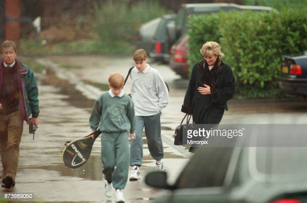 Princess Diana with her two sons Prince Harry and Prince William at The Harbour Club in Chelsea West London Yesterday it was reported that The Queen...