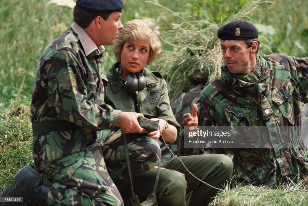 princess-diana-with-members-of-the-the-royal-hampshire-regiment-at-picture-id73850197