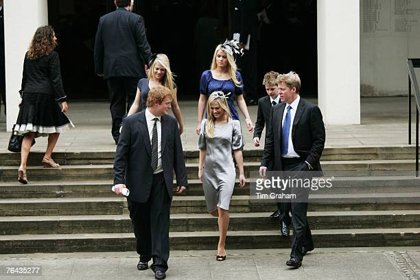 Princess Diana's brother Charles Earl Spencer with his nephew George McCorquodale and children Amelia Spencer Kitty Spencer Eliza Spencer and Lord...