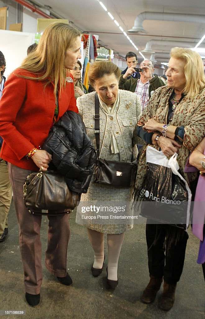 Princess Elena (L) and her aunt Princess Margarita (C) attend Rastrillo 'Nuevo Futuro' at Pipa paviliono on November 26, 2012 in Madrid, Spain.