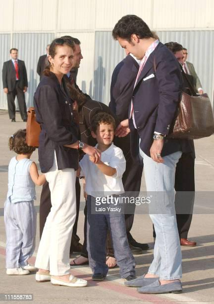 Princess Elena and husband Jaime de Marichalar with daughter Victoria Federica and son Felipe Juan Froilan