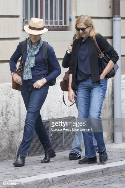 Princess Elena and Princess Cristina are seen visiting Juan Valentin Urdangarin for his 18th birthday on September 30 2017 in Geneva Switzerland