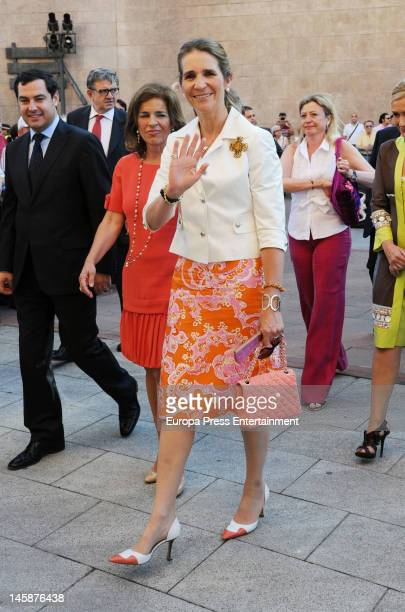Princess Elena attends Beneficiencia bullfight at Plaza de Toros de Las Ventas on June 6 2012 in Madrid Spain