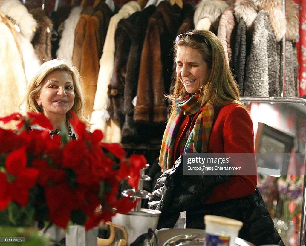 Princess Elena (R) attends Rastrillo 'Nuevo Futuro' at Pipa paviliono on November 26, 2012 in Madrid, Spain.