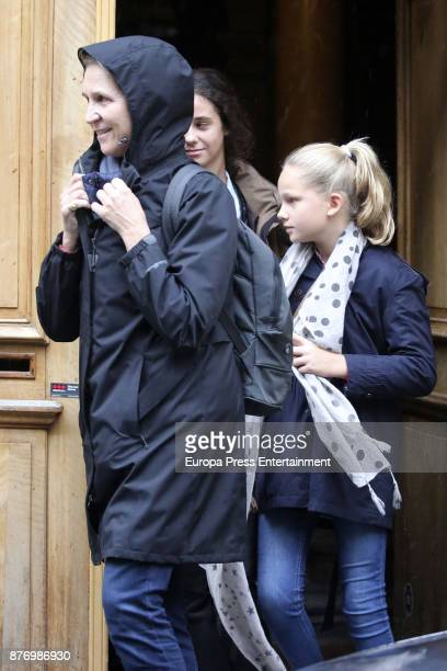 Princess Elena Irene Urdangarin and Victoria Federica de Marichalar are seen visiting Juan Valentin Urdangarin for his 18th birthday on September 30...