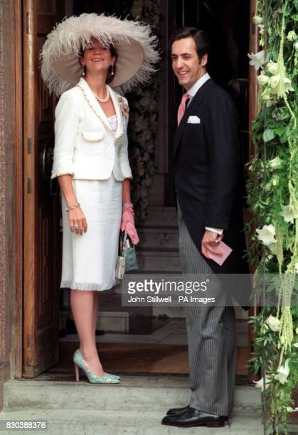 Princess Elena of Spain and her husband Jaime de Marichala arrive at the Greek Orthodox Cathedral of St Sophia in Bayswater west London for the...