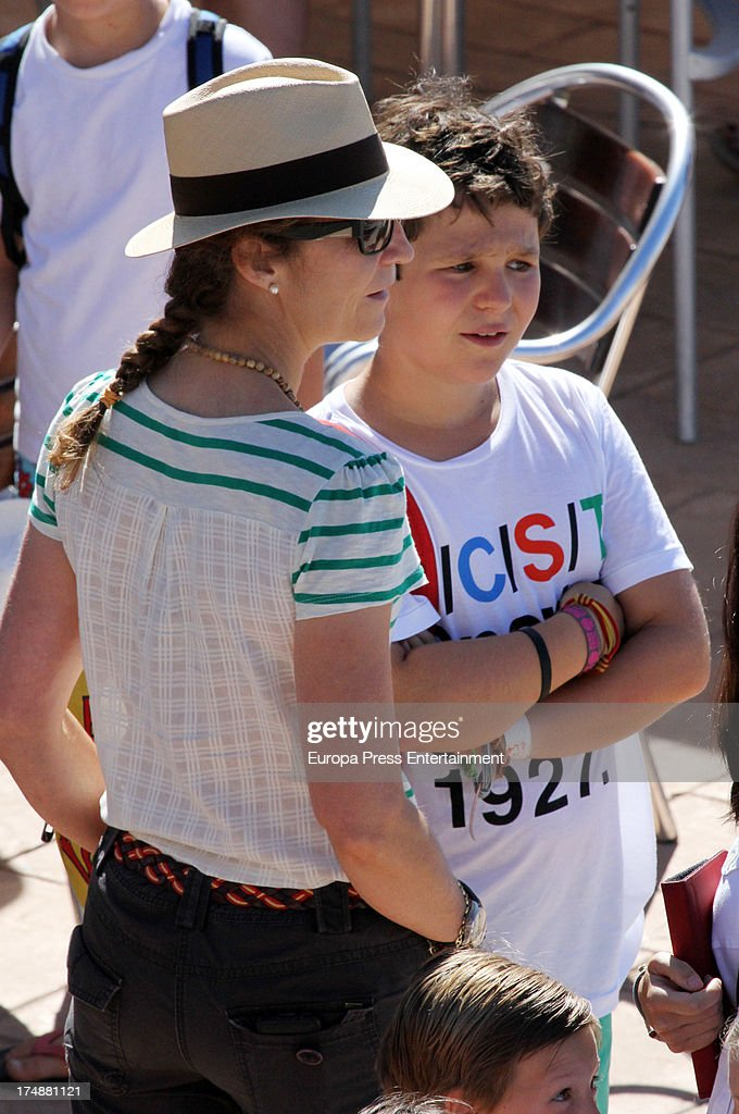 <a gi-track='captionPersonalityLinkClicked' href=/galleries/search?phrase=Princess+Elena+of+Spain&family=editorial&specificpeople=160235 ng-click='$event.stopPropagation()'>Princess Elena of Spain</a> and her son Felipe Juan Froilan de Marichalar are seen in Mallorca on July 29, 2013 in Mallorca, Spain. Princess Cristina of Spain comes back to Mallorca after two years.