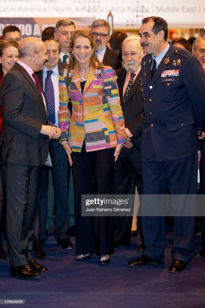 <a gi-track='captionPersonalityLinkClicked' href=/galleries/search?phrase=Princess+Elena+of+Spain&family=editorial&specificpeople=160235 ng-click='$event.stopPropagation()'>Princess Elena of Spain</a> (C) and <a gi-track='captionPersonalityLinkClicked' href=/galleries/search?phrase=Jose+Ignacio+Wert&family=editorial&specificpeople=8761709 ng-click='$event.stopPropagation()'>Jose Ignacio Wert</a> (L) attend 'AULA Fair' (International Fair of Students) at Ifema on February 19, 2014 in Madrid, Spain.