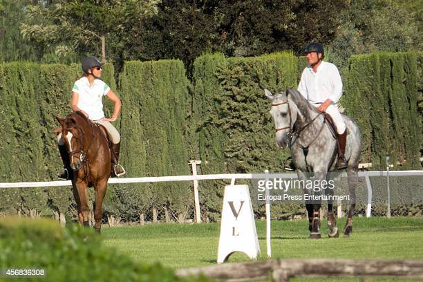 Princess Elena of Spain and Luis Astolfi attend the national jumping horse race CSN4 Ruta de la Plata at Real Club Pineda on October 3 2014 in...