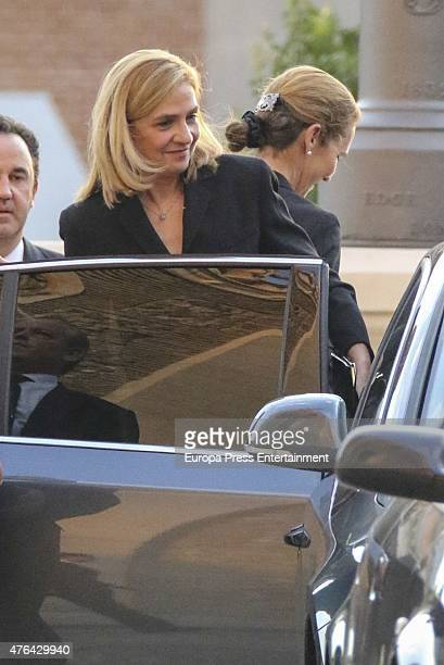 Princess Elena of Spain and Princess Cristina of Spain attend the memorial service for Prince Kardam of Bulgaria at San Jeronimo el Real church on...
