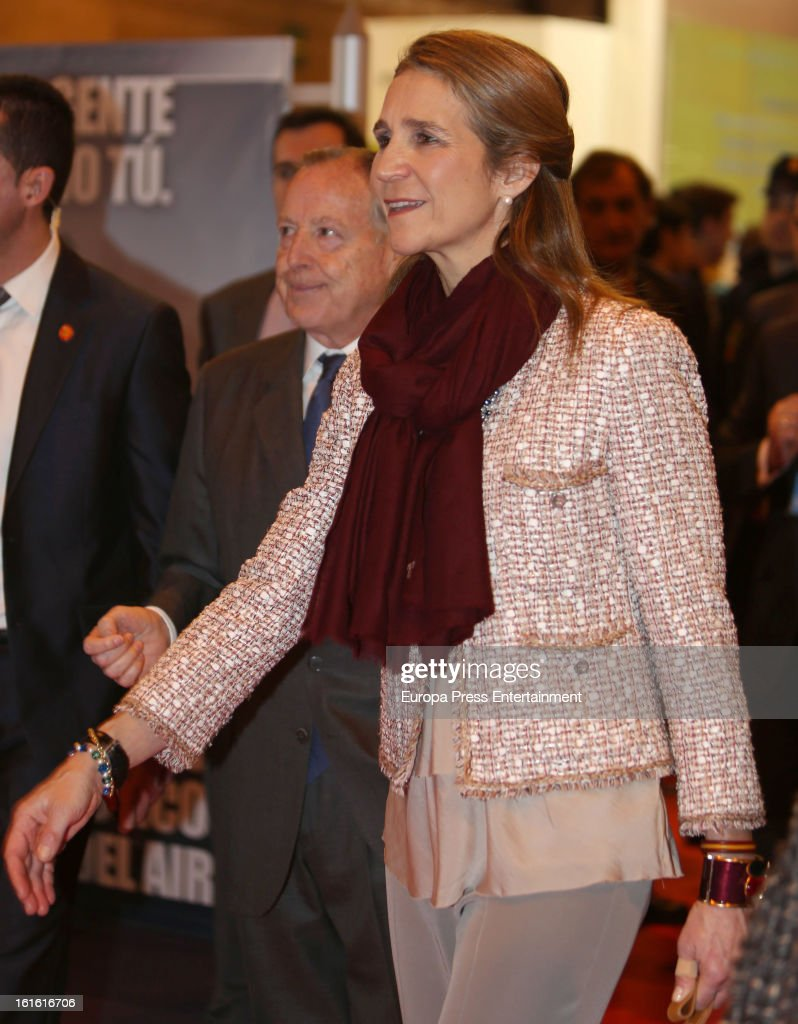 Princess Elena of Spain attends 'Aula 2013' at Ifema on February 13, 2013 in Madrid, Spain.