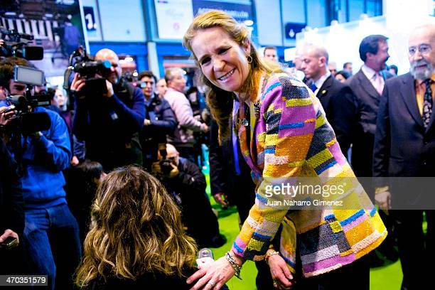 Princess Elena of Spain attends 'AULA Fair' at Ifema on February 19 2014 in Madrid Spain