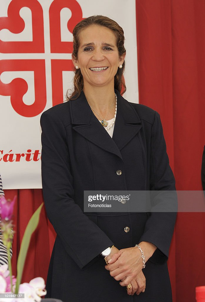 Princess Elena of Spain attends 'Caritas Charity Day' at the Banco Popular Espa�ol on June 10 2010 in Madrid Spain