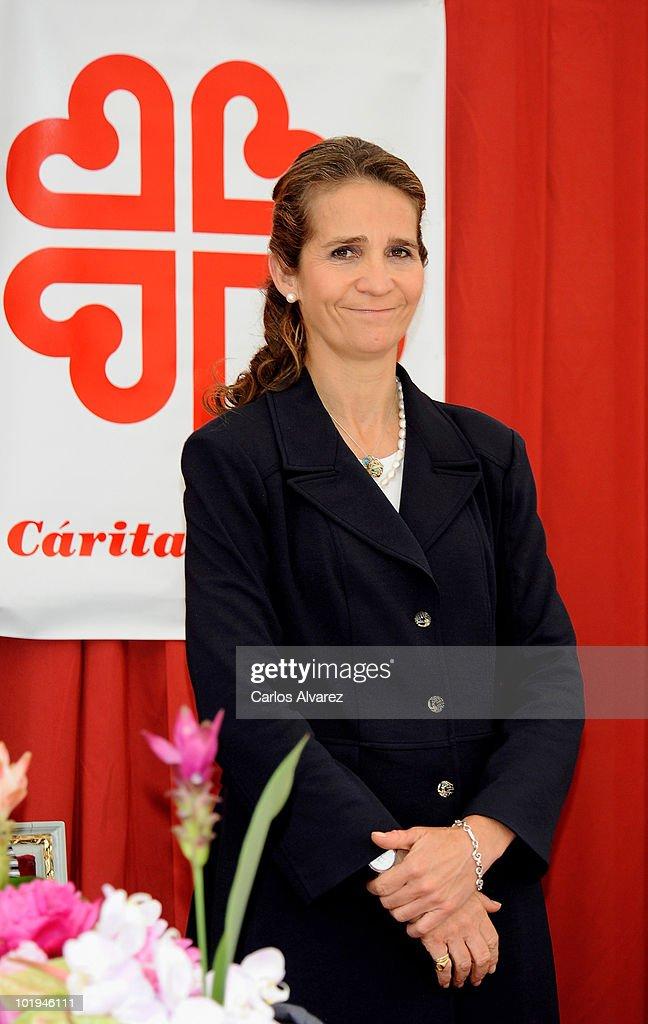 Princess Elena of Spain attends 'Dia de la Caridad' on June 10 2010 in Madrid Spain