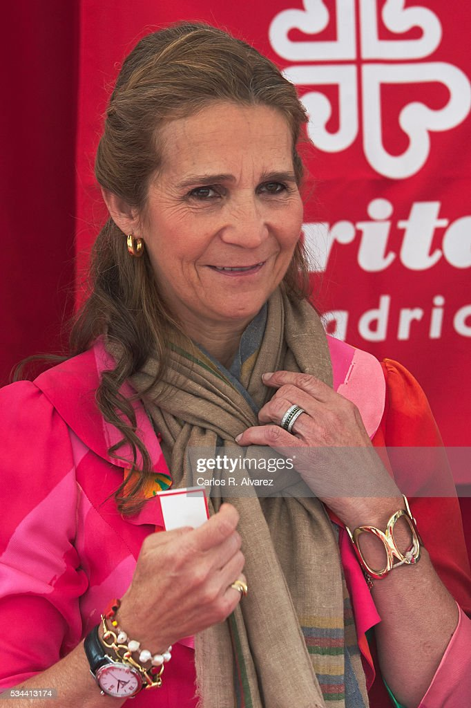 Princess Elena of Spain attends 'Dia de la Caridad' on May 26, 2016 in Madrid, Spain.