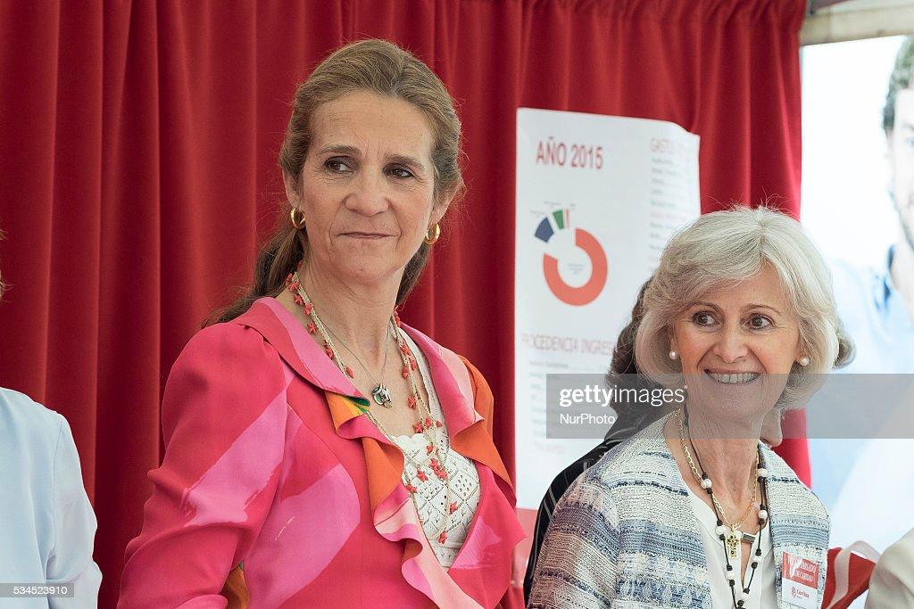 Princess Elena of Spain attends 'Dia de la Caridad' on May 26, 2016 in Madrid, Spain.