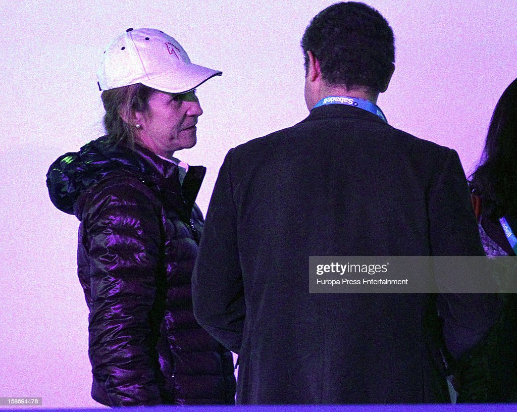 <a gi-track='captionPersonalityLinkClicked' href=/galleries/search?phrase=Princess+Elena+of+Spain&family=editorial&specificpeople=160235 ng-click='$event.stopPropagation()'>Princess Elena of Spain</a> attends Madrid Horse Week Fair 2012 at Ifema on December 22, 2012 in Madrid, Spain.