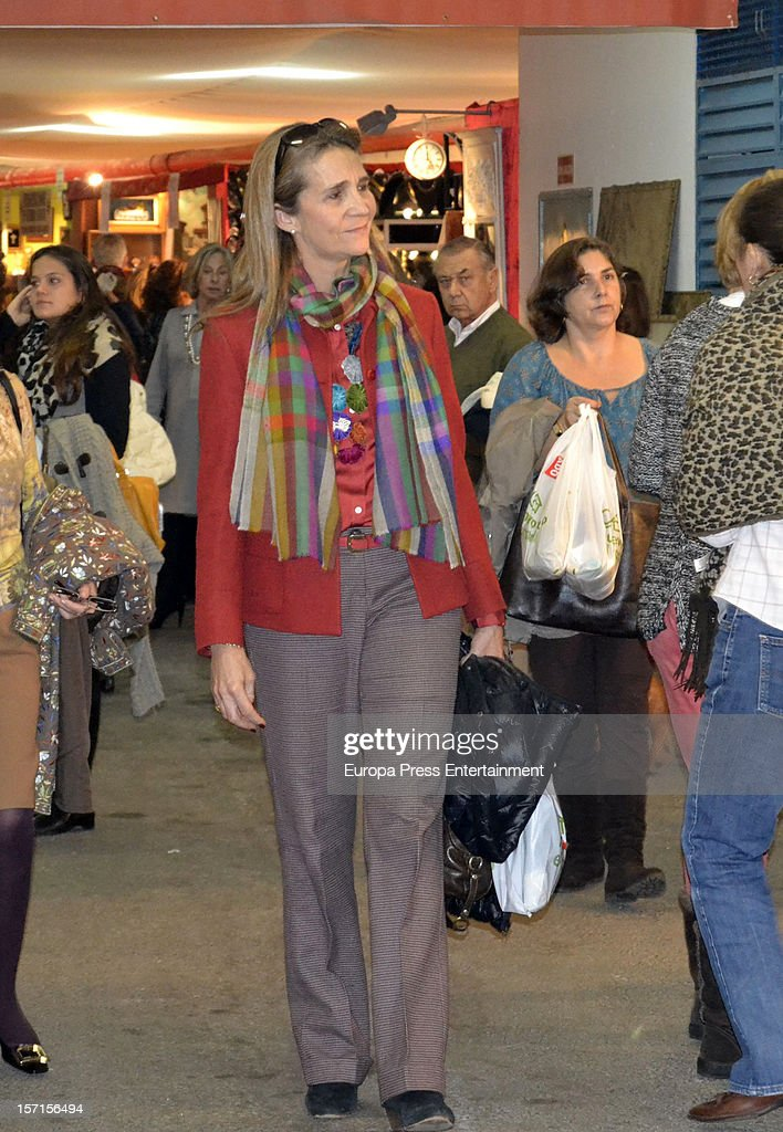 Princess Elena of Spain attends Rastrillo 'Nuevo Futuro' at Pipa paviliono on November 26, 2012 in Madrid, Spain.