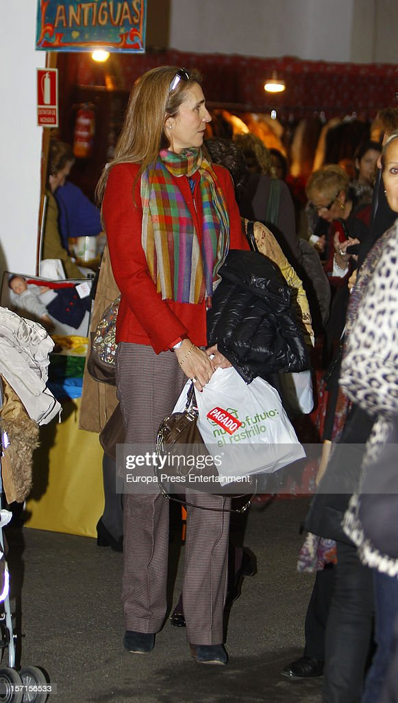 <a gi-track='captionPersonalityLinkClicked' href=/galleries/search?phrase=Princess+Elena+of+Spain&family=editorial&specificpeople=160235 ng-click='$event.stopPropagation()'>Princess Elena of Spain</a> attends Rastrillo 'Nuevo Futuro' at Pipa paviliono on November 26, 2012 in Madrid, Spain.