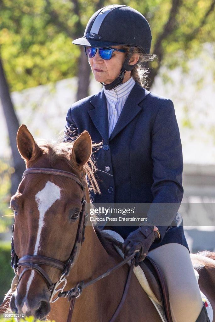 Princess Elena Attends Spanish Horse Champion Tournament