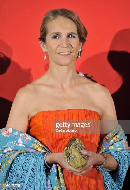 Princess Elena of Spain attends 'Telva' Awards 2010 at Palacio de Cibeles on October 25 2010 in Madrid Spain
