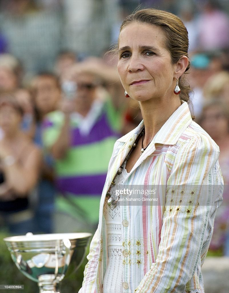 Princess Elena Attends Horse Jumping Competition
