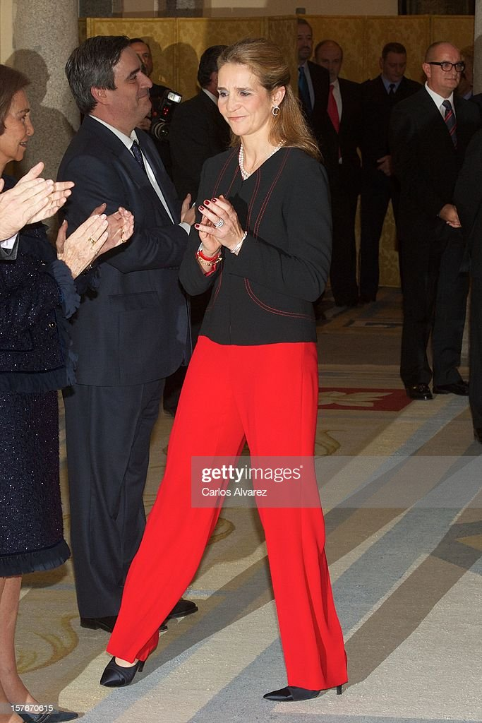 Princess Elena of Spain attends the National Sports Awards ceremony at El Pardo Palace on December 5, 2012 in Madrid, Spain.