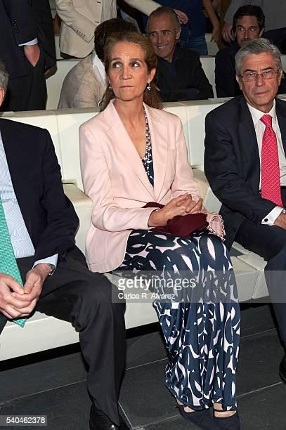 Princess Elena of Spain attends 'Todos Somos Estudiantes' Movistar awards at the Telefonica Auditorium on June 15 2016 in Madrid Spain
