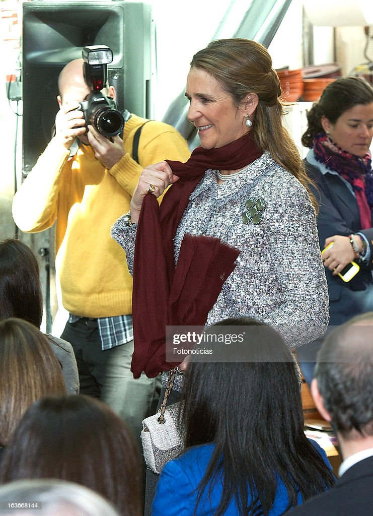 <a gi-track='captionPersonalityLinkClicked' href=/galleries/search?phrase=Princess+Elena+of+Spain&family=editorial&specificpeople=160235 ng-click='$event.stopPropagation()'>Princess Elena of Spain</a> delivers the 'V Premios Jovenes Emprendedores Sociales' of the Universidad Europea de Madrid at The Hub Madrid on March 14, 2013 in Madrid, Spain.