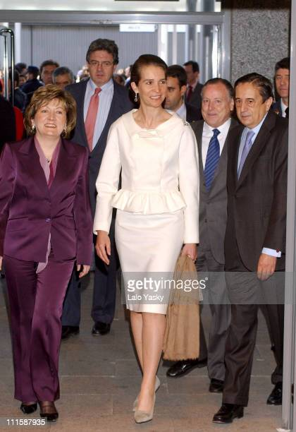 Princess Elena of Spain during 'Salon Internacional del Estudiante' Opening at IFEMA in Madrid Spain