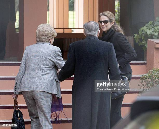 Princess Elena of Spain expresses her condolences to Marichalar family on March 14 2014 in Madrid Spain Princess Elena of Spain's ex motherinlaw...