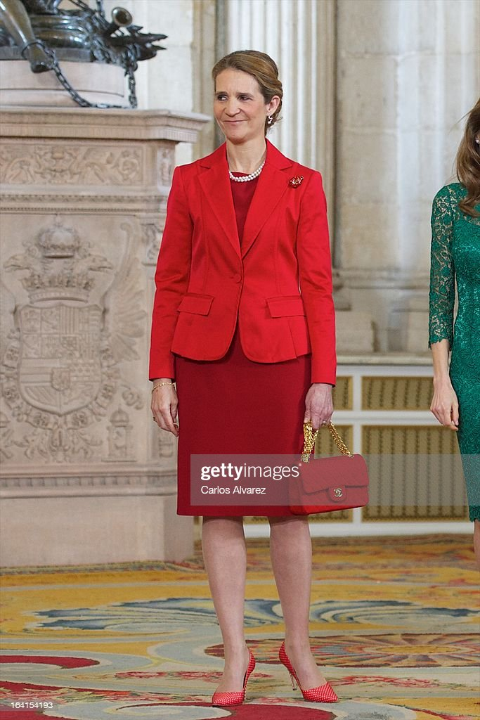 <a gi-track='captionPersonalityLinkClicked' href=/galleries/search?phrase=Princess+Elena+of+Spain&family=editorial&specificpeople=160235 ng-click='$event.stopPropagation()'>Princess Elena of Spain</a> receives International Olympic Committee Evaluation Commission Team for a dinner at the Royal Palace on March 20, 2013 in Madrid, Spain.