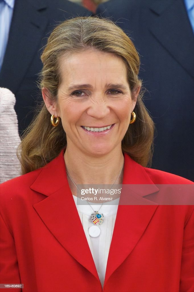 Princess Elena of Spain receives 'Un Juguete, Una Ilusion' Foundation members at the Zarzuela Palace on April 4, 2013 in Madrid, Spain.