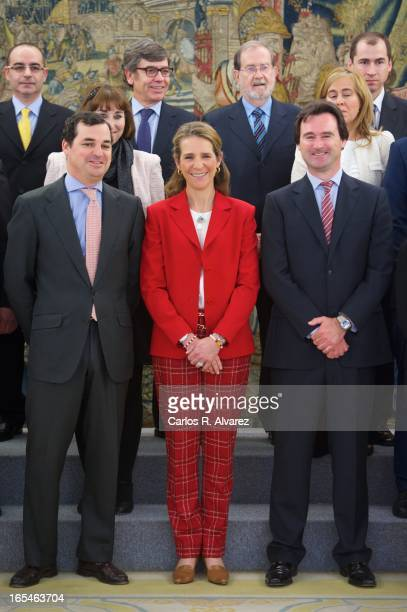 Princess Elena of Spain receives 'Un Juguete Una Ilusion' Foundation members at the Zarzuela Palace on April 4 2013 in Madrid Spain
