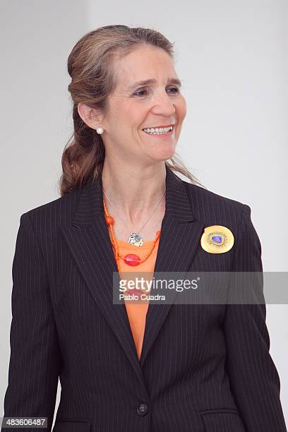Princess Elena of Spain visits Tres Olivos School at Tres Olivos School on April 9 2014 in Madrid Spain