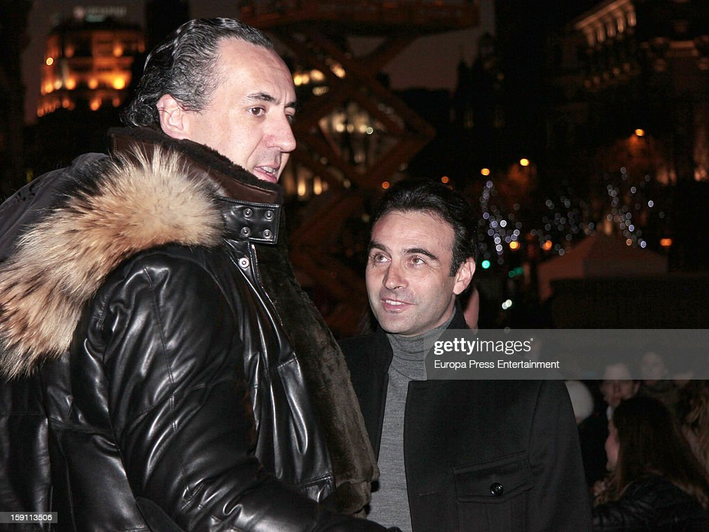 Princess Elena of Spain's ex husband, Jaime de Marichalar and bullfighter Enrique Ponce attend the procession of the Wise Men on January 5, 2013 in Madrid, Spain.