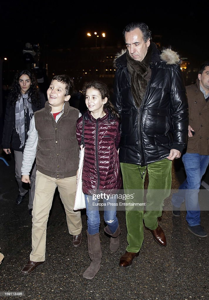 Princess Elena of Spain's ex husband, Jaime de Marichalar, his son Felipe Juan and daughter <a gi-track='captionPersonalityLinkClicked' href=/galleries/search?phrase=Victoria+Federica&family=editorial&specificpeople=1100859 ng-click='$event.stopPropagation()'>Victoria Federica</a> attend the procession of the Wise Men on January 5, 2013 in Madrid, Spain.