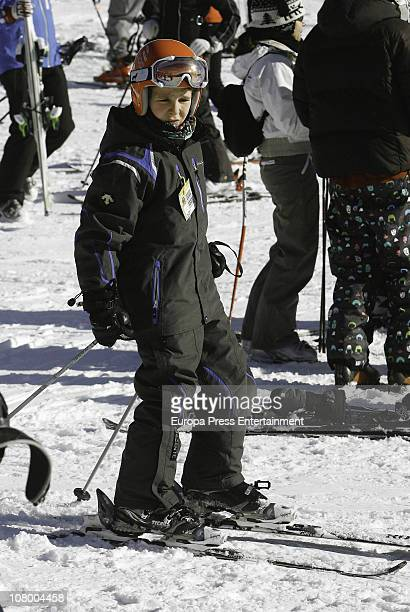 Princess Elena of Spain's son Felipe Juan Froilan is seen enjoying their holidays on December 26 2010 in Baqueira Beret Spain
