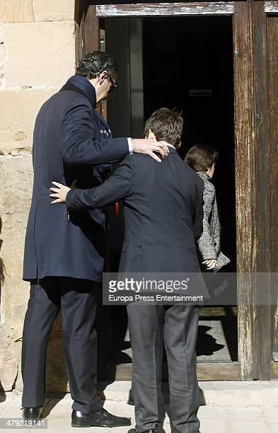 Princess Elena's ex husband Jaime de Marichalar and his kids Felipe Juan Froilan de Marichalar and Victoria Federica de Marichalar attend the funeral...