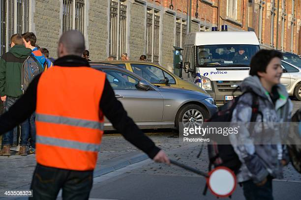 Princess Elisabeth of Belgium daughter of King Philippe is leaving school under police protection on December 3 2013 in Brussels Belgium A Belgian...