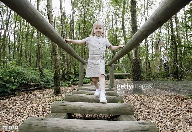Princess Elisabeth of Belgium plays in park Chlrophylle on July 16 in Dochamps Belgium