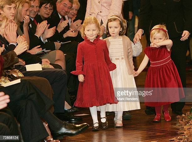 Princess Elisabeth Princess Laetitia Maria and Princess Louise attend the Christmas Concert in the Brussels Palace on December 20 2006 in Brussels...