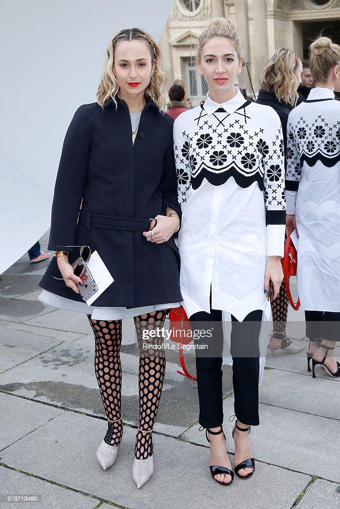 Princess Elisabeth von Thurn und Taxis and Sabine Getty attend the Christian Dior show as part of the Paris Fashion Week Womenswear Fall/Winter...