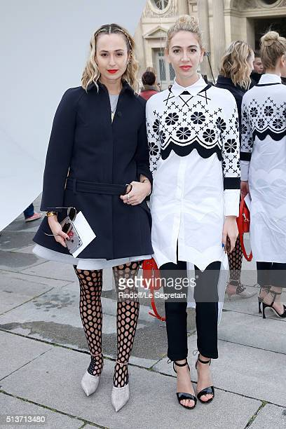 Princess Elisabeth von Thurn und Taxis and Sabine Getty attend the Christian Dior show as part of the Paris Fashion Week Womenswear Fall/Winter...