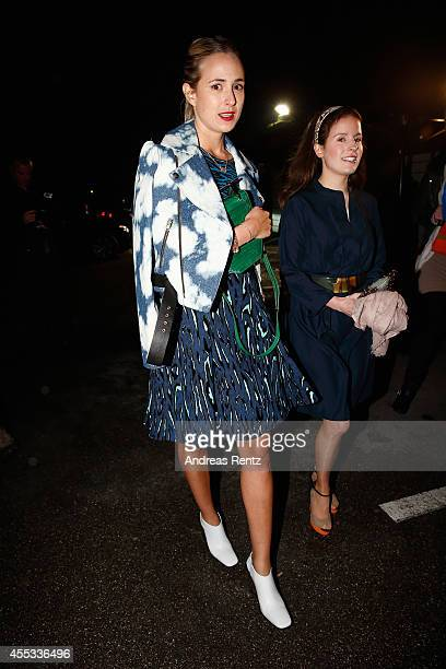 Princess Elisabeth von Thurn und Taxis arrives for the prewedding party of Princess Maria Theresia von Thurn und Taxis and Hugo Wilson at P1 on...