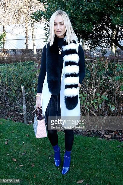 Princess Elisabeth von Thurn und Taxis attend the Christian Dior Spring Summer 2016 show as part of Paris Fashion Week Held at Musee Rodin on January...