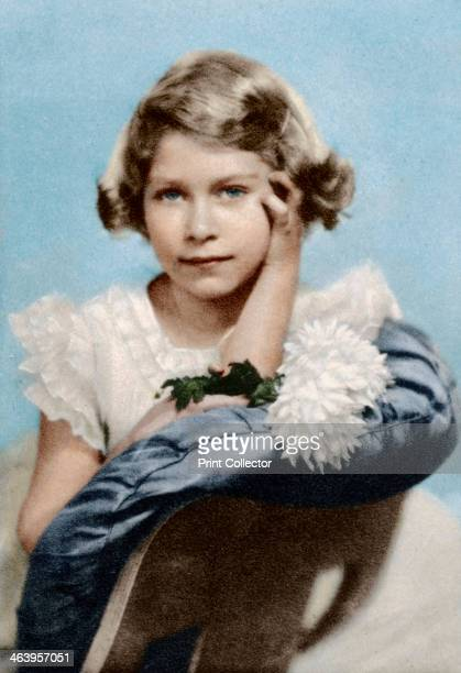 Princess Elizabeth aged nine Artist Unknown The future Queen Elizabeth II A photograph from the Illustrated London News Coronation Record Number