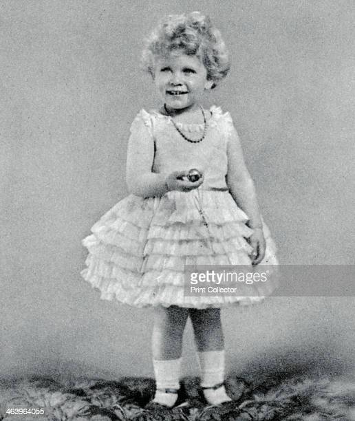 Princess Elizabeth aged two in 1928 The future Queen Elizabeth II A photograph from the Illustrated London News Coronation Record Number