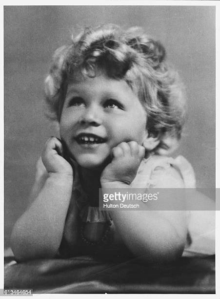 Princess Elizabeth later Queen Elizabeth II as a toddler taken at her London home by Marcus Adams July 1928