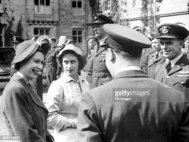 Princess Elizabeth meeting Canadian Air Cadets at Balmoral Scotland